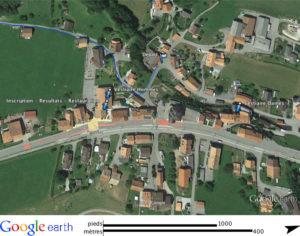 Carte d'accès de la course Neirivue Moléson